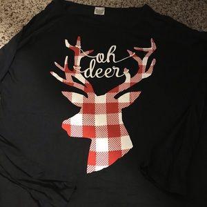Oh Deer Plaid Tunic